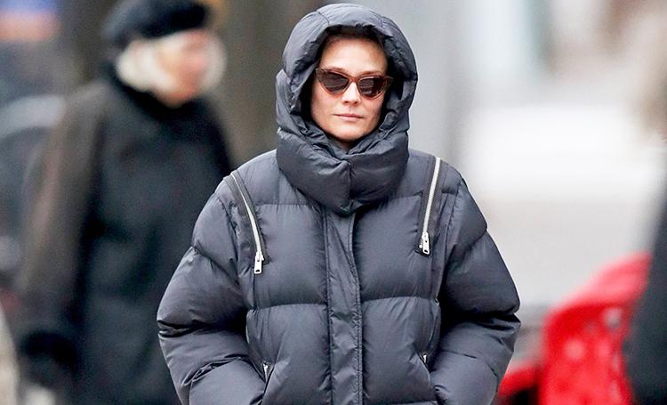 """В мороз все средства хороши: Диана Крюгер и другие звезды спасаются от холода в """"негламурных"""" образах"""