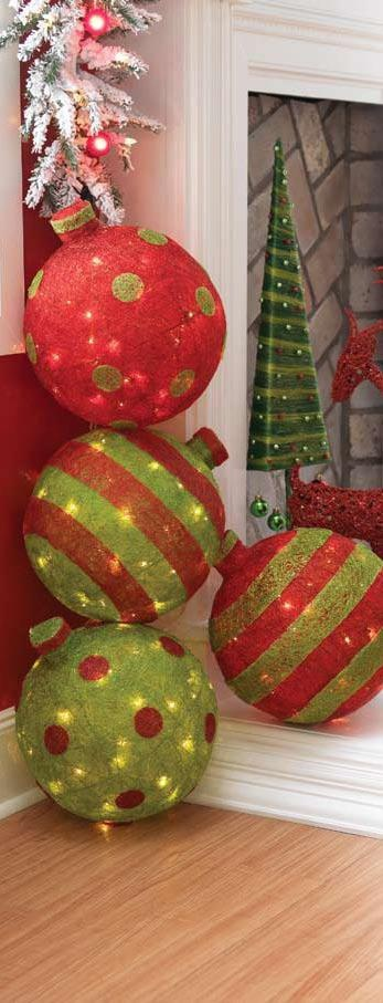 Lighted Ornaments: