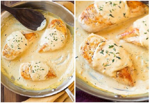 Нежнейшие куриные грудки под горчично-сметанным соусом!