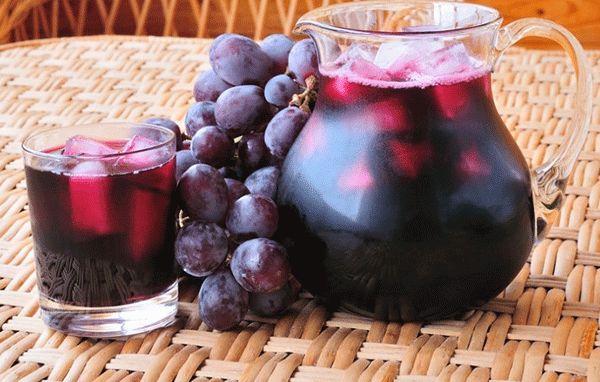 Виноградный сок из «Изабеллы» на зиму