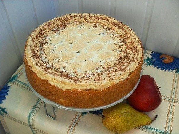 Вкуснота непередаваемая: пирог «Карамельный» с яблоками и грушей