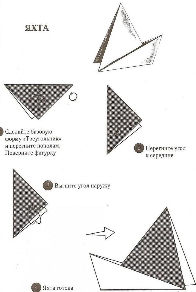 Парусник из бумаги как сделать