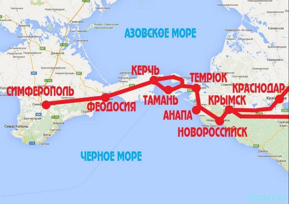Строительство газопровода Кубань-Крым идет ускоренными темпами
