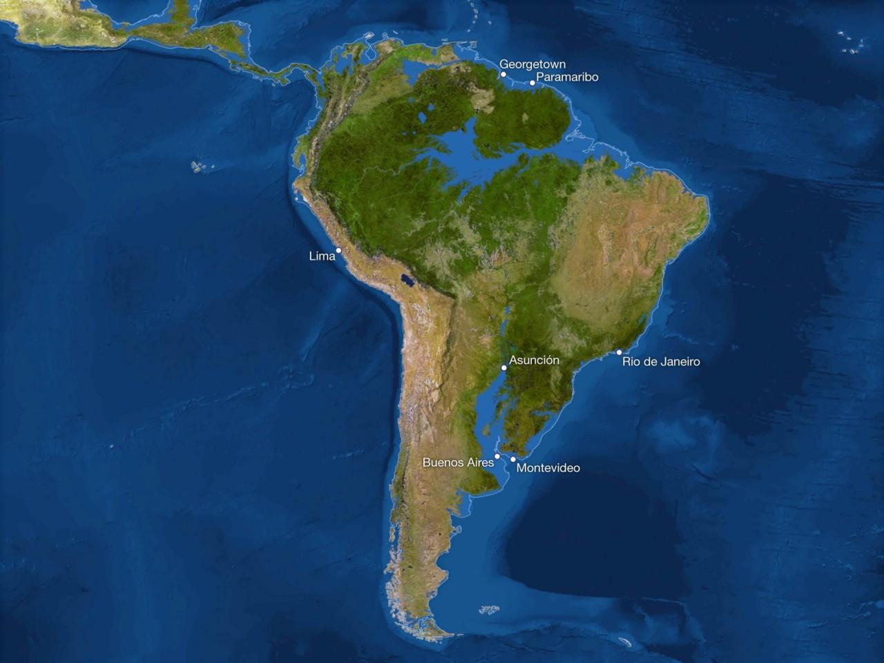 Карта мира после таяния всех льдов