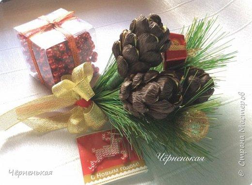 Новый год из конфет своими руками мастер класс