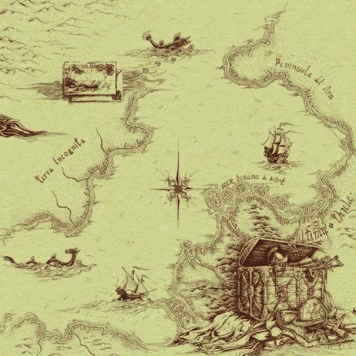 Картинки для декупажа. Старинные карты