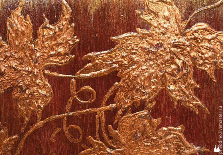 Объемная роспись поталью