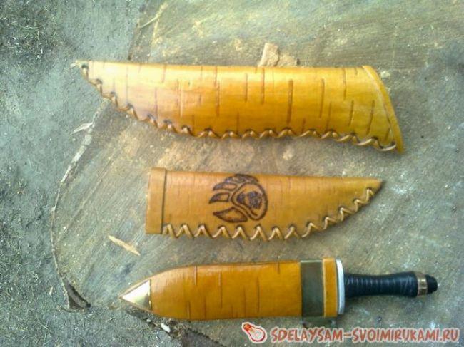 Чехол для ножа из бересты