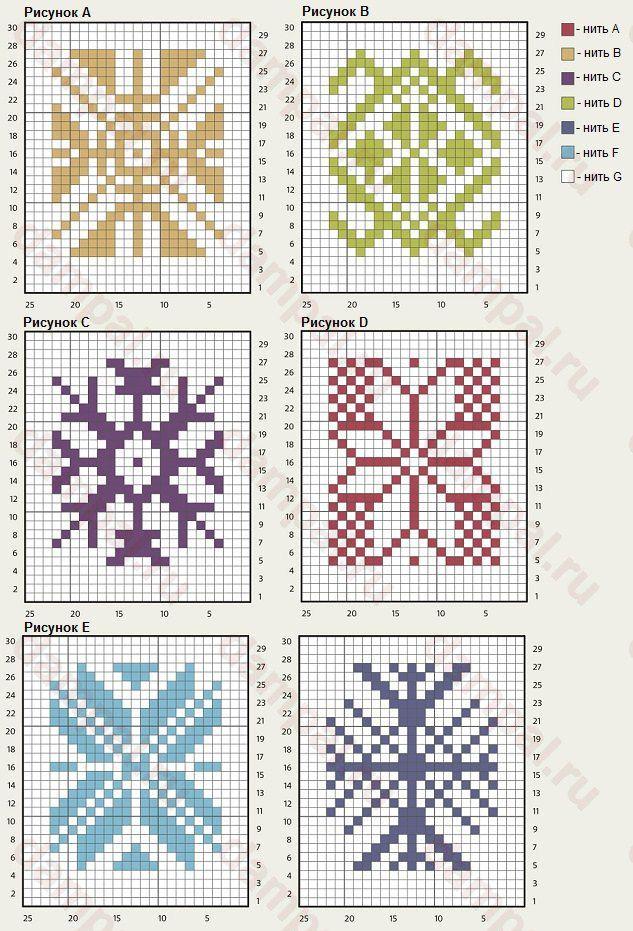 Вязание пледа спицами из квадратов цветы 5 спицах