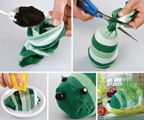 Выращиваем растения в носках