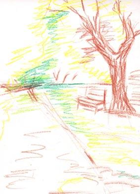 Как нарисовать картинки осень в парке