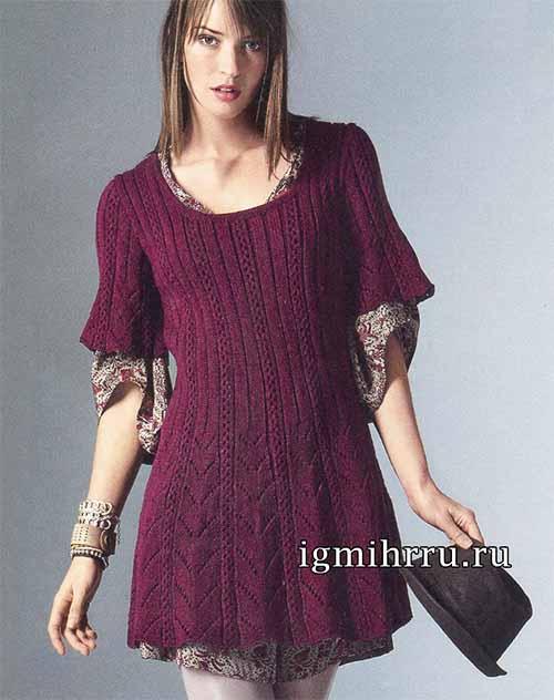 мини-платье с ажурными узорами