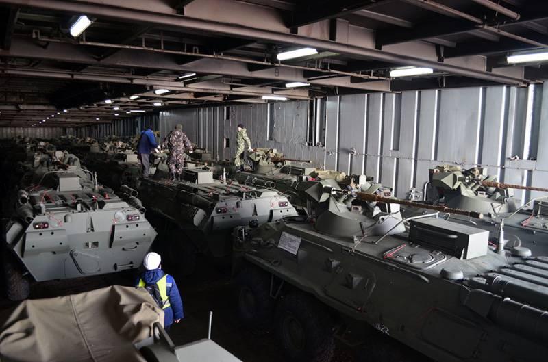 Россия поставила Азербайджану бронетехнику и боеприпасы