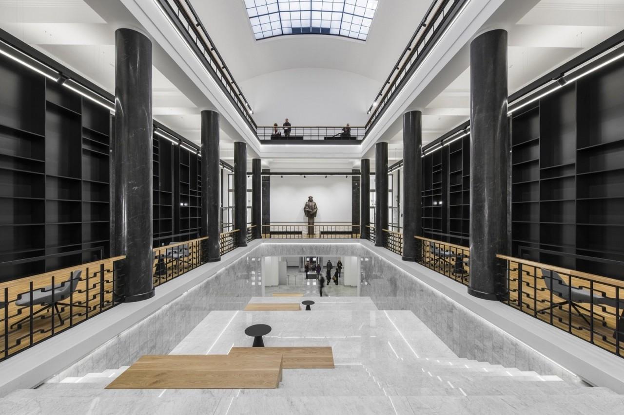 Интерьер и экстерьер Национальной библиотеки Литвы