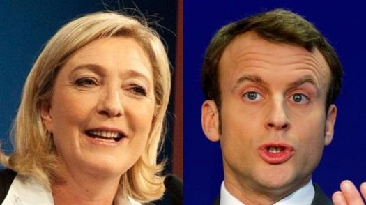 Во французской президентской гонке Ле Пен и Макрон набирают очки