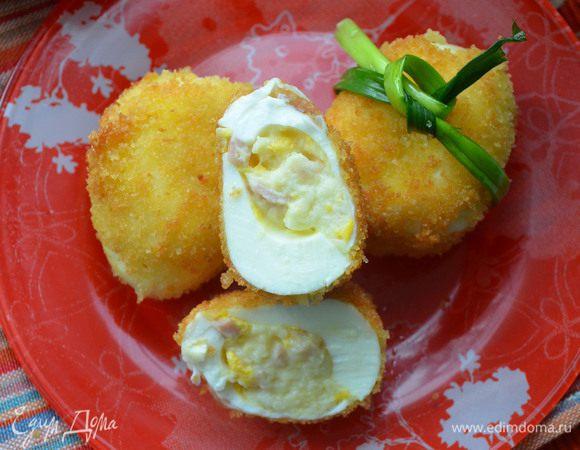 Фаршированные яйца в сухарях