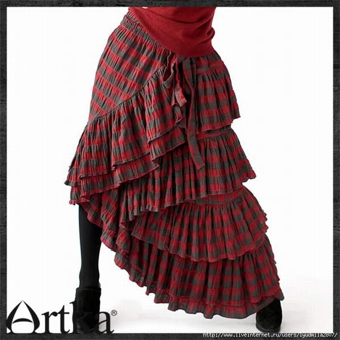 Оригинальная бохо-юбка для начинающих