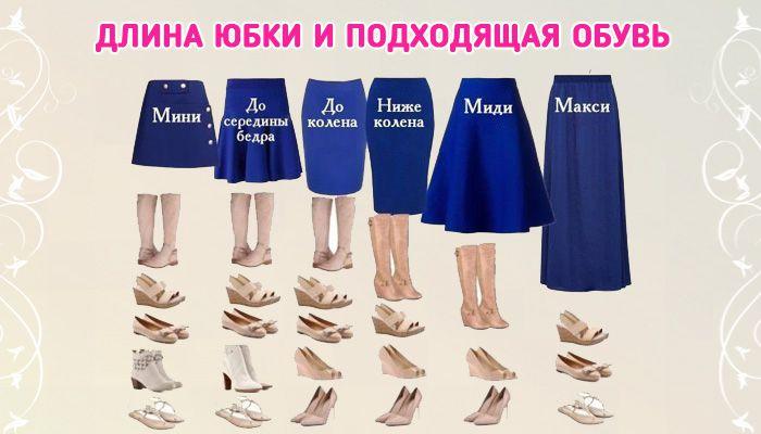 Как правильно подобрать обувь под юбку