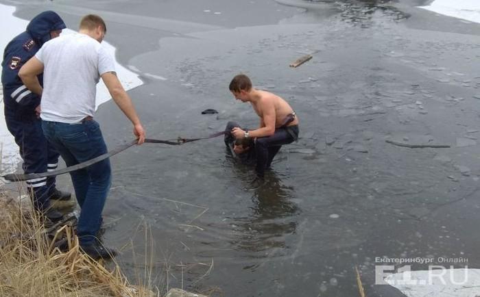 Герои среди нас: Парень спас рыбака в Екатеринбурге