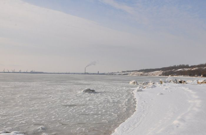 Черное море замерзло (34 фото)