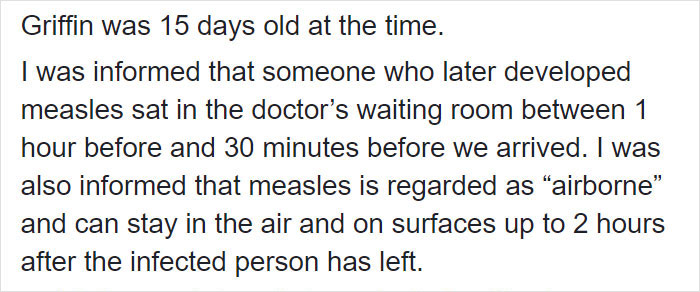 "Mom, Whose 15-Day-Old Son Was Exposed To Measles, Writes ""Angry As Hell"" Facebook Rant About Anti-Vaxxers"