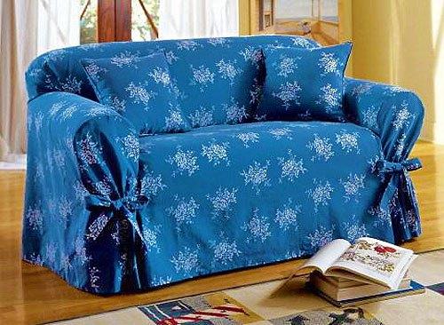 Синий чехол на диван