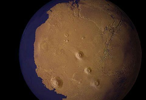 Учёные рассказали о северном ледовитом океане Марса
