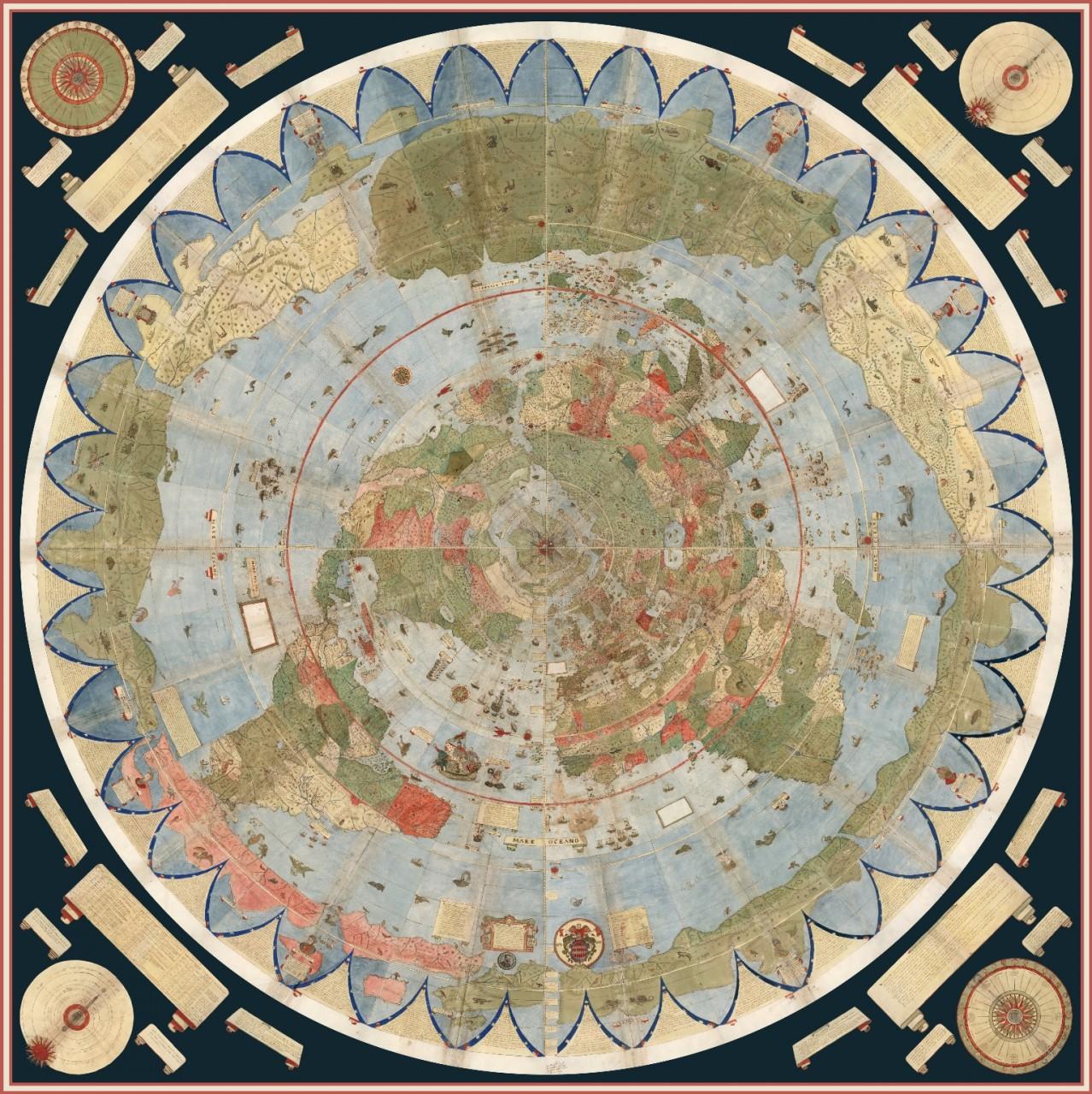 Таинственная 430 летняя карта, которую оцифровали коллекционеры