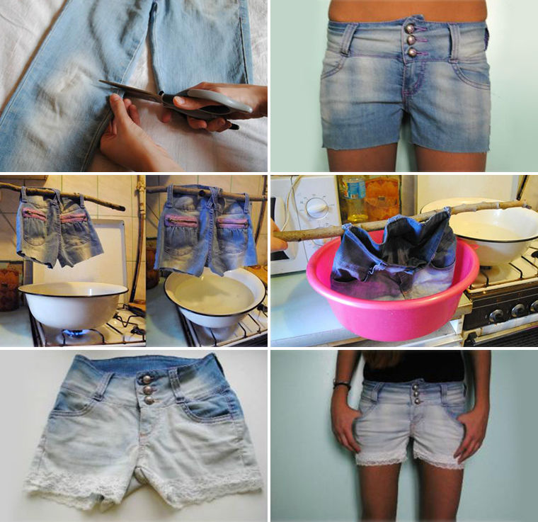 Обесцветить джинсы домашних условиях