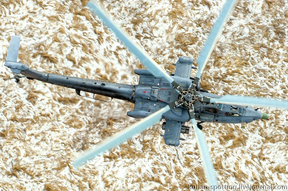Полет на полигон с Ми-28Н. Кореновск.
