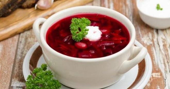 Борщ с фасолью - оригинальные рецепты настоящего украинского блюда