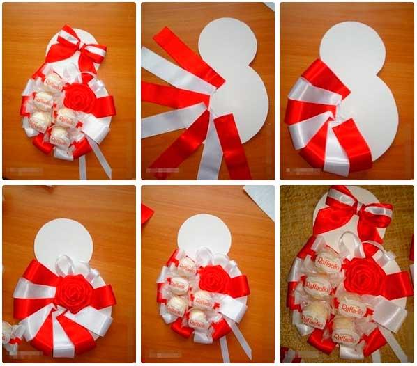 Подарок на 8 марта подружкам своими руками где купить в москве искуственные цветы на ввц