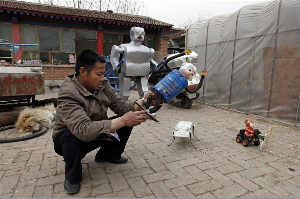 748 47 роботов китайского изобретателя