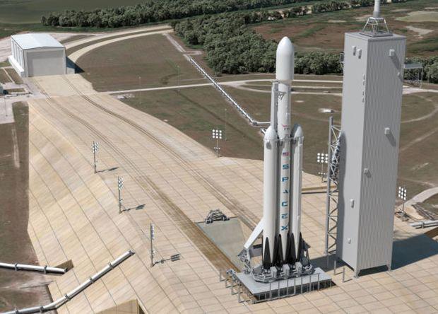 SpaceX испытала «ядро» первой ступени Falcon Heavy