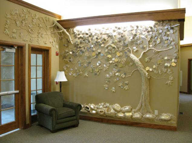 Объёмный декор стен