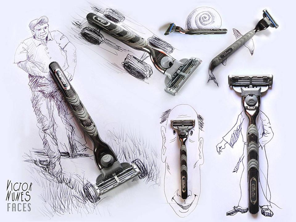 Виктор Нунес - Рисунки из бритвы
