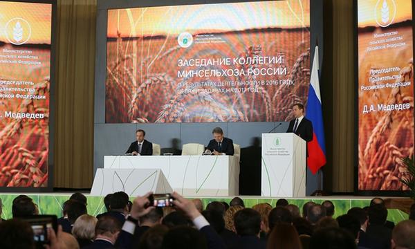 Медведев выступил за расширение Доктрины продовольственной безопасности РФ