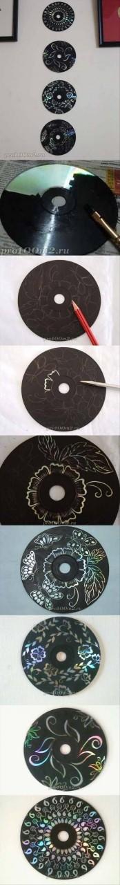 Стильная декоративная композиция для украшения стен диск, своими руками, сделай сам