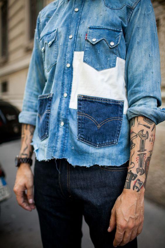 Крейзи пэчворк из джинсы