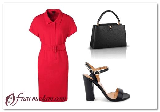 С чем носить красное классич…