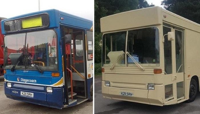 Энергичные супруги приобрели полуразвалившийся автобус и сделали из него настоящий дом на колесах