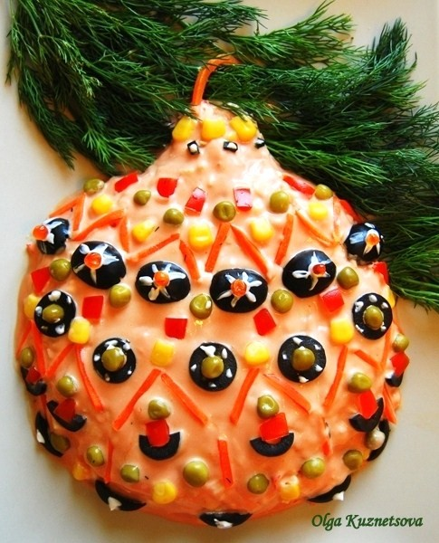 Новогоднее украшение блюд - фото 4