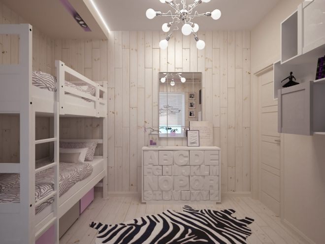 Маленькая детская комната для мальчика и девочки