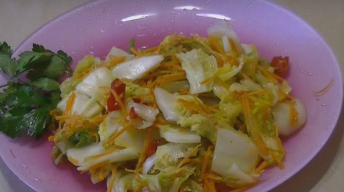проведет рецепт салата из пекинской капусты по-корейски Неаполя