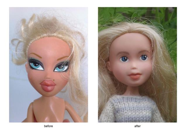 Дедушка попытался стереть макияж с куклы внучки и случайно создал ужасного монстра