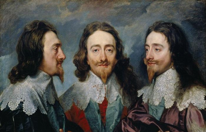 Загадка тройного портрета Карла I: Зачем понадобилось три раза рисовать монарха на одной картине