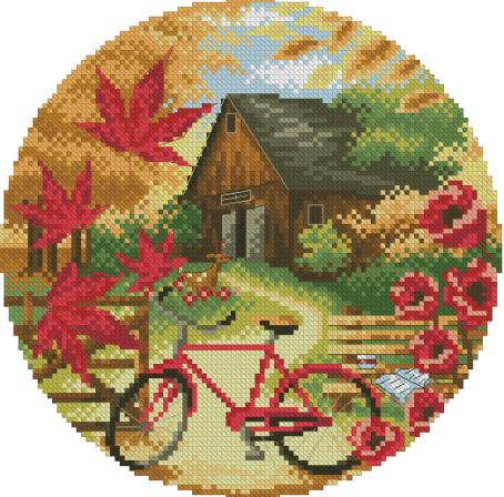 Вышивка «Осенние декорации»