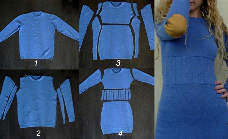 Перешить из халата платье