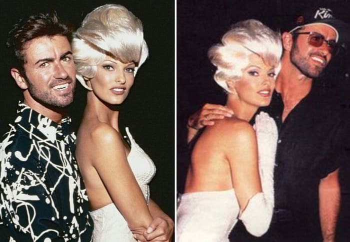 Джордж Майкл и Линда Евангелиста | Фото: staraddresses.com