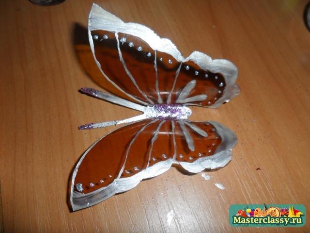 Бабочки поделки из пластиковых бутылок